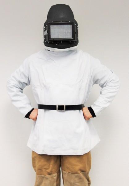 Strahlerschutzhelm C4 Leder mit Ärmeln