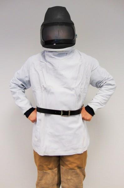 Strahlerschutzhelm P4-PLUS Leder mit Ärmeln